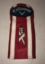 "Callaway ""Xr"" Golf Club Headcover, Red White Blue Soft Vinyl, Embroidered"
