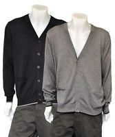 Mens Brand New Marks and Spencer Blue Harbour V Neck Cardigan- Black & Grey