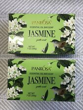 Panrosa Essential Oil Bar Soap 7 oz - 2 Pk Gently Scented Jasmine Smells Amazing