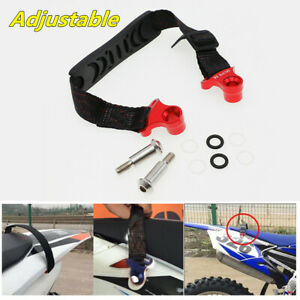 Universal Adjustable Motorcycle Rear Rescue Pull Strap Sling Lift Belt Tow Rope