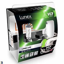 Lunex H7 Long Life Premium Lampe frontale 3000K Ampoules Twin
