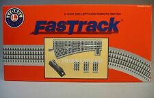 Lionel Fastrack 060 Remote Control Left Switch o gauge train turn 6-12057 New
