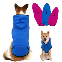 Medium Dog Clothes Warm Fleece Lined Coat Jacket Hoodie Winter Apparel Pet Vest