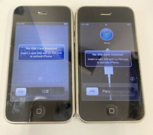 2 x Old iPhone Bundle Pre Owned 8gb 16gb Turning On A2141