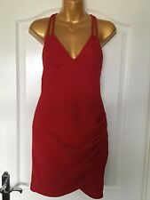Pretty Little Thing Red Sleeveless Dress Size 12
