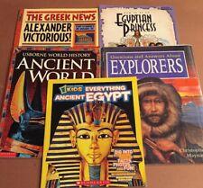 Ancient History Kids Book Lot Of 5 Social Studies Supplement