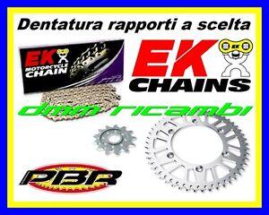 Kit Trasmissione Racing 415 APRILIA RS 125 92>93 corona catena PBR EK 1992 1993