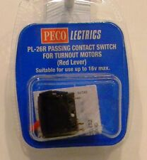 Peco Pl-26r - Passing Contact Switch Red lever de