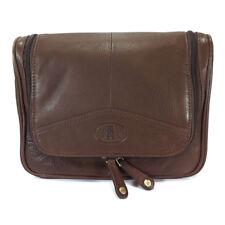 Rowallan Leather Hanging Wash Bag - Style: 33-9789 Brown BNWT