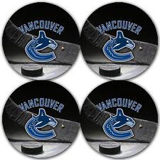 Vancouver Canucks Hockey Rubber Round Coaster set (4 pack) / RNDRBRCSTR2087