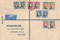 south africa 1937 large multi stamps cover ref r13223