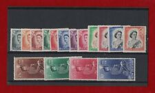 1953 New Zealand QE II SG723/36 mlh set of 16 nice clean