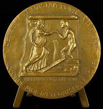 Médaille Charles Maurras Orphée sur la barque de Charon Eurydice sc Ch de Courcy