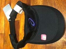 Asics Straight Sets Visor Womens Black with Purple Emblem NEW