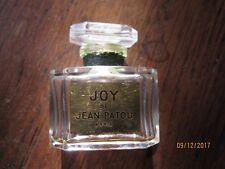 JOY de JEAN PATOU  5 CM BOUCHON EN VERRE BEAU FLACON  DE PARFUM, étiquette dorée