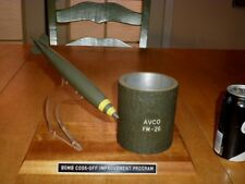 U.S. MILITARY SERVICE - (EOD) BOMB ORDNANCE AWARD / DESK TOP DISPLAY BOMB CASING