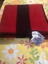 Marlboro 2003 Wool Camp Blanket Thick Throw Black Red Stripe New