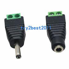1pair Adapter Connector 3.5x1.35mm Female male to AV Screw Terminal CCTV Balun