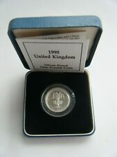 More details for 1990 royal mint silver proof one pound £1 coin - wales - box and coa