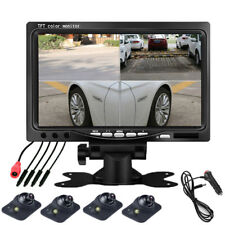 "7 "" Car Reversing Monitor 4 split screen & Night vision Auto-dimming cameras"