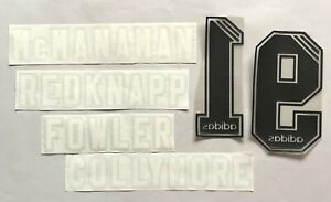 NOMI/NUMERI UFFICIALI LIVERPOOL MIX 1995-1996 OFFICIAL NAMES-NUMBERS REPLICA