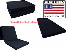 BLACK TRI-FOLD FOAM BED, FLOOR FOLDING MAT 3 x 27 x 75, DENSITY FOAM 1.8 LBS