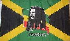 BOB MARLEY FREEDOM FLAG ON JAMAICA NOTTING HILL CARNIVAL REGGAE 3FT X 2FT 3'x2'