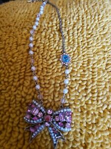 Betsey Johnson Pink Bow Necklace