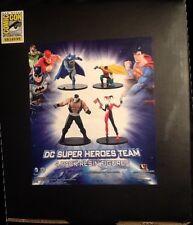 SDCC 2013 DC Super Heroes Team Resin 4 Pack MINT