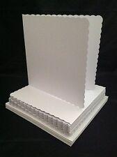 Manualidades UK 50 Festoneado Sobres y Tarjetas Blanco C6
