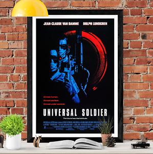 Universal Soldier Jean-Claude Van Damme Movie Poster Print
