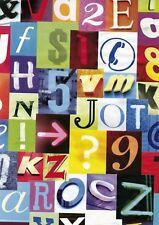 Klebefolie bunt Alpha Zahlen Möbelfolie selbstklebend Vintage Retro 45 x 200 cm