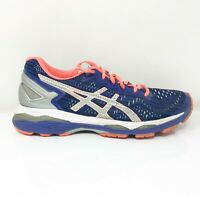 Asics Womens Gel Kayano 23 T6A6N Blue Pink Running Shoes Lace Up Low Top Size 8