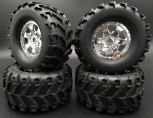 4pcs 1/8 moonster truck car tire set 17mm hex for 1/8 savage xl 4.6 5.9Hobao