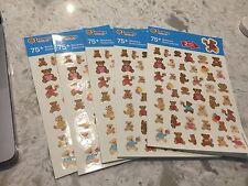Sandylion Teddy Bears Stickers lot of 5 SHEETS 11 X 8.5