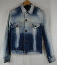 "Levi 70500 Bleached Denim Trucker Jacket 34"" Blue Jean Retro Vintage Red Tab"
