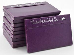 Lot of 10 Sets - 1984-S US Mint Proof Cent Nickel Dime Quarter Half Dollar *0902