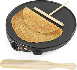 Giles & Posner  1300 W Electric Non Stick Plate Crepe Maker Pancakes, Crepes and