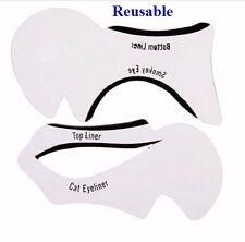 EYELINER Stencil - Eyeshadow Guide - Smokey Cat - Quick Eye Makeup Tool Set