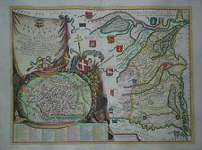 Territorio di Ravenna-Vincenzo Maria Coronelli-original de 1690-raras