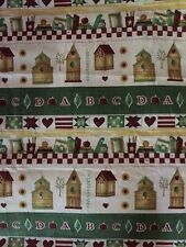 Americana Theme Fabric Wine/green/beige Color By The Yard