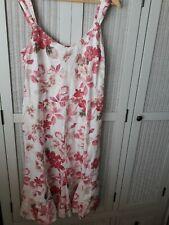 Per UNA M and S LINEN floral Dress 14 R