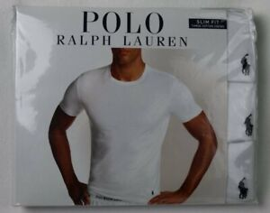 Ralph Lauren Polo 3 pack White Slim Fit Crew Neck T-shirts Tee NWT