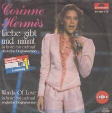 """Corinne Hermes Liebe gibt und nimmt / Words Of Love 7"""" vinyl single 1983"""