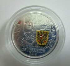 Österreich 10 Euro Silber PP 2019 Ritterlichkeit Mit Kettenhemd und Schwert