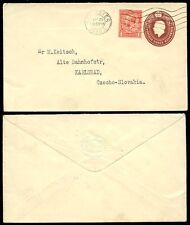 Gb kg5 1930 Papelería T.h Downing + Perfin 1d reforzamiento a Checoslovaquia