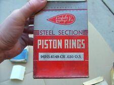Vintage Lincoln Zephyr V12 piston ring set (+.030), NOS! V-12 rings 96HS-6149-CR