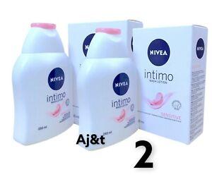 Nivea Intimo Wash Lotion Sensitive Feminine Care 250ml   2 X 250 ml ***