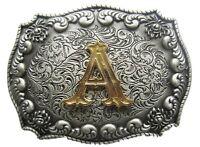 Original Western Initial Letter Belt Buckle Gurtelschnalle Boucle de ceinture