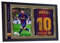 new Lionel Messi Barcelona autograph signed poster photo print FRAMED #006